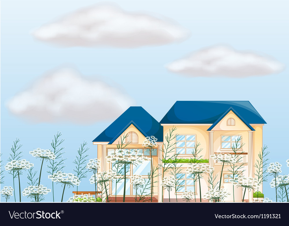 A mansion house vector | Price: 1 Credit (USD $1)