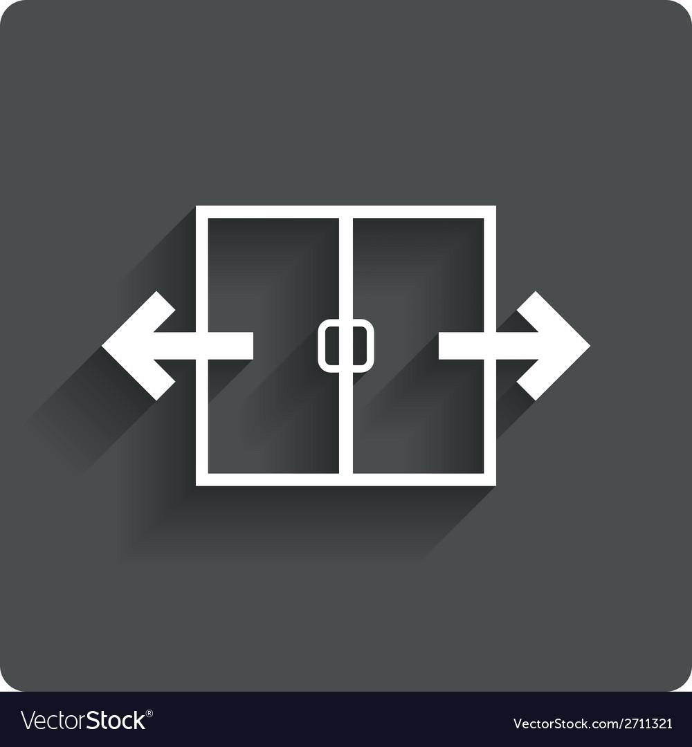 Automatic door sign icon auto open symbol vector   Price: 1 Credit (USD $1)