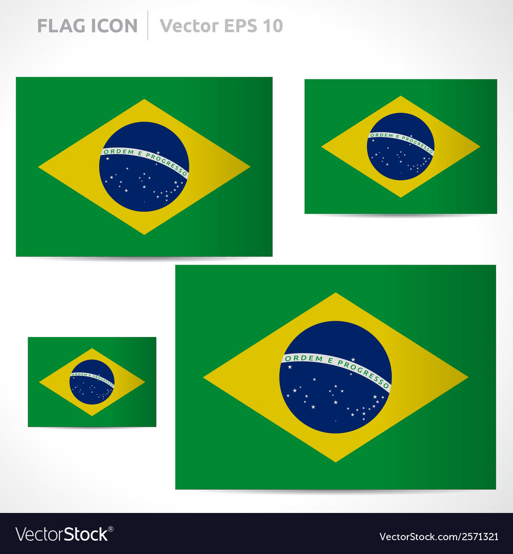 Brazil flag template vector | Price: 1 Credit (USD $1)