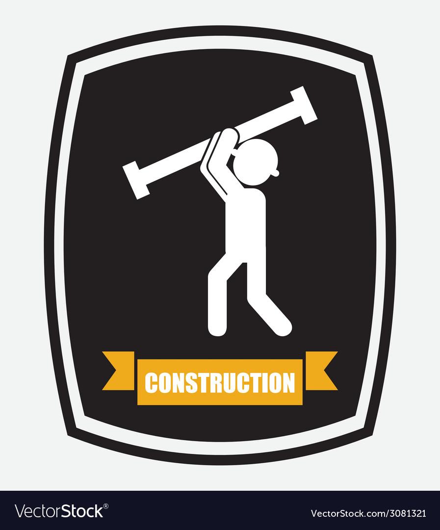 Construction design vector | Price: 1 Credit (USD $1)