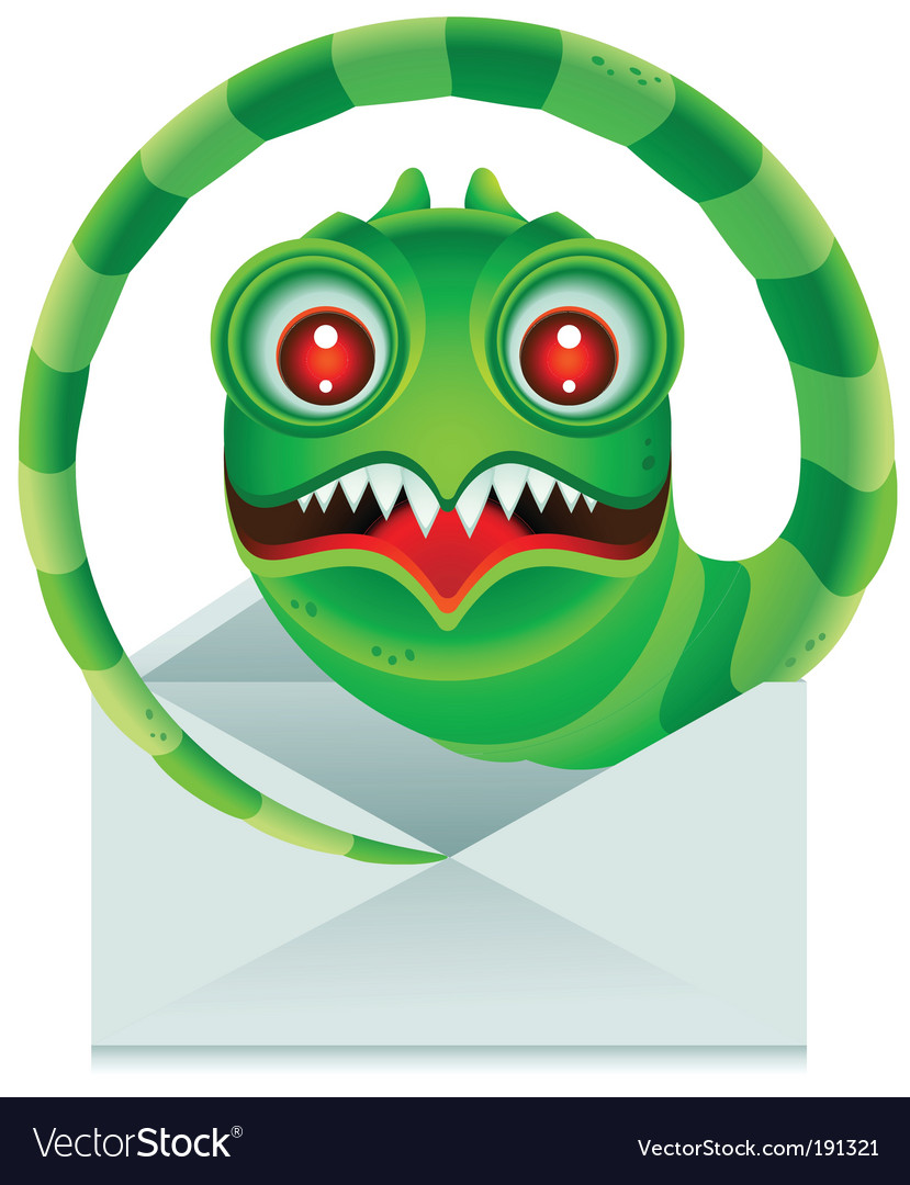 Email worm vector | Price: 1 Credit (USD $1)