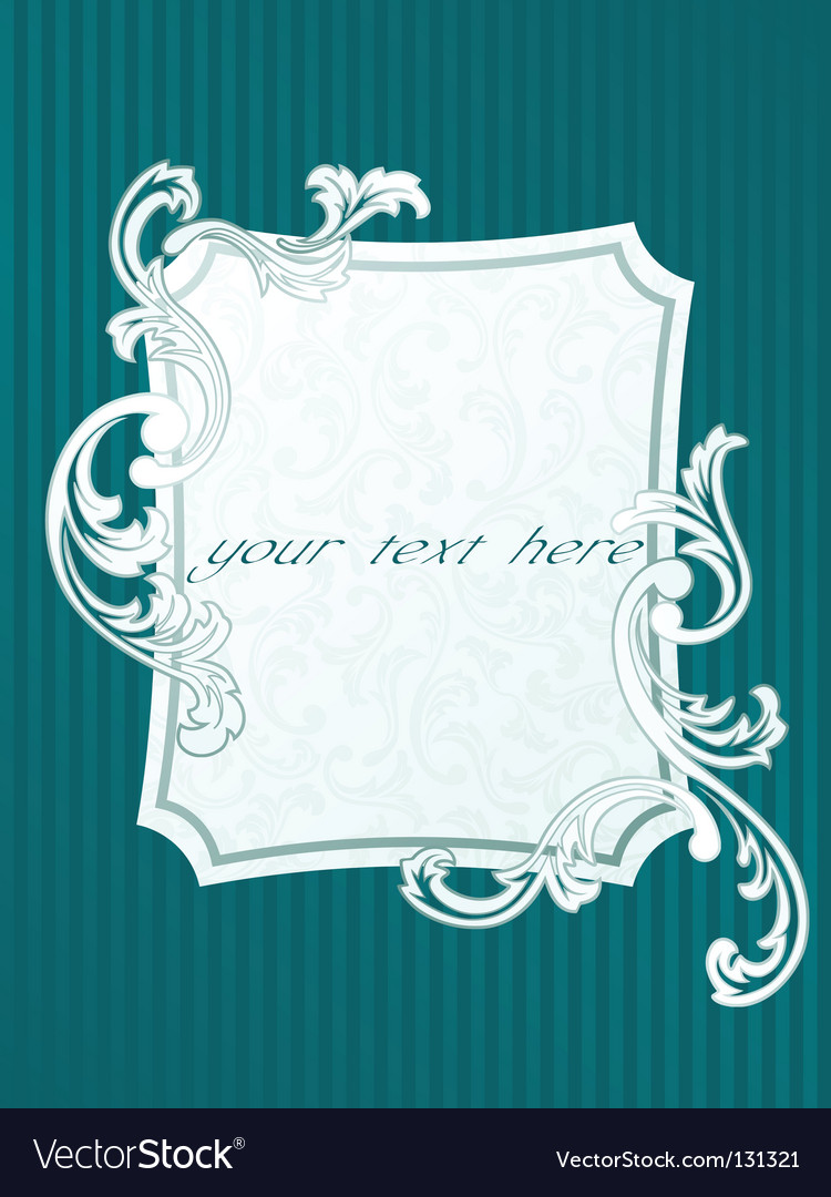 French style frame vector | Price: 1 Credit (USD $1)