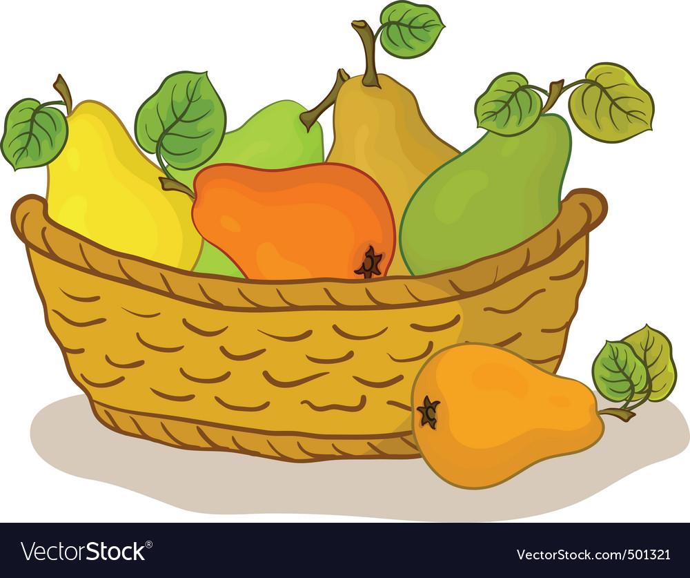 Fruit basket vector | Price: 1 Credit (USD $1)