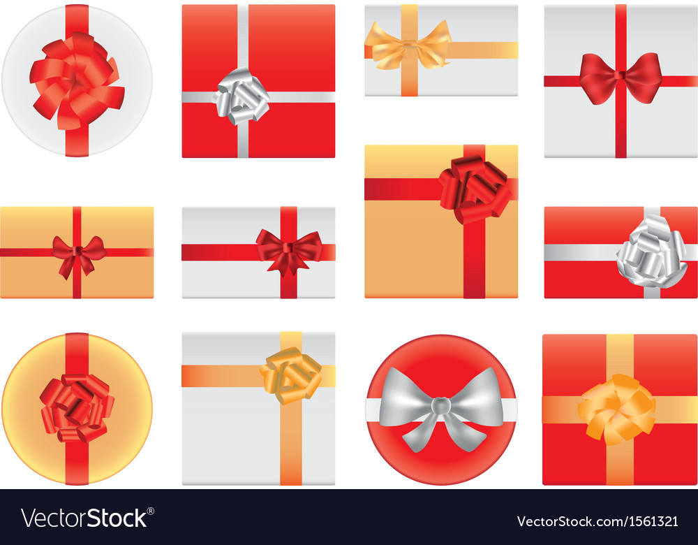 Gifts top view vector | Price: 1 Credit (USD $1)