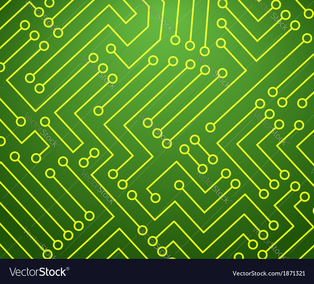 Green and yellow printed circuit board vector | Price: 1 Credit (USD $1)