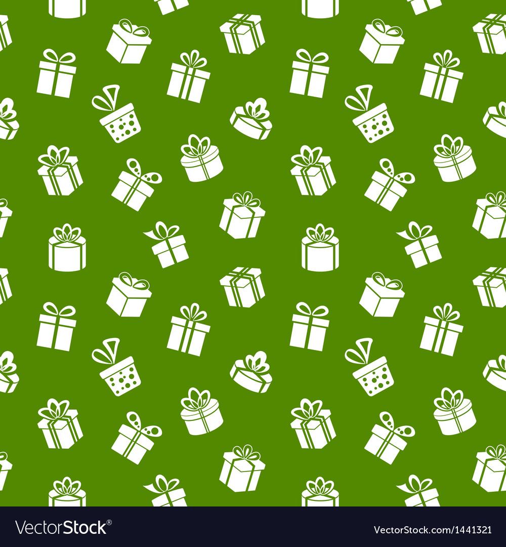 Green gift pattern vector | Price: 1 Credit (USD $1)