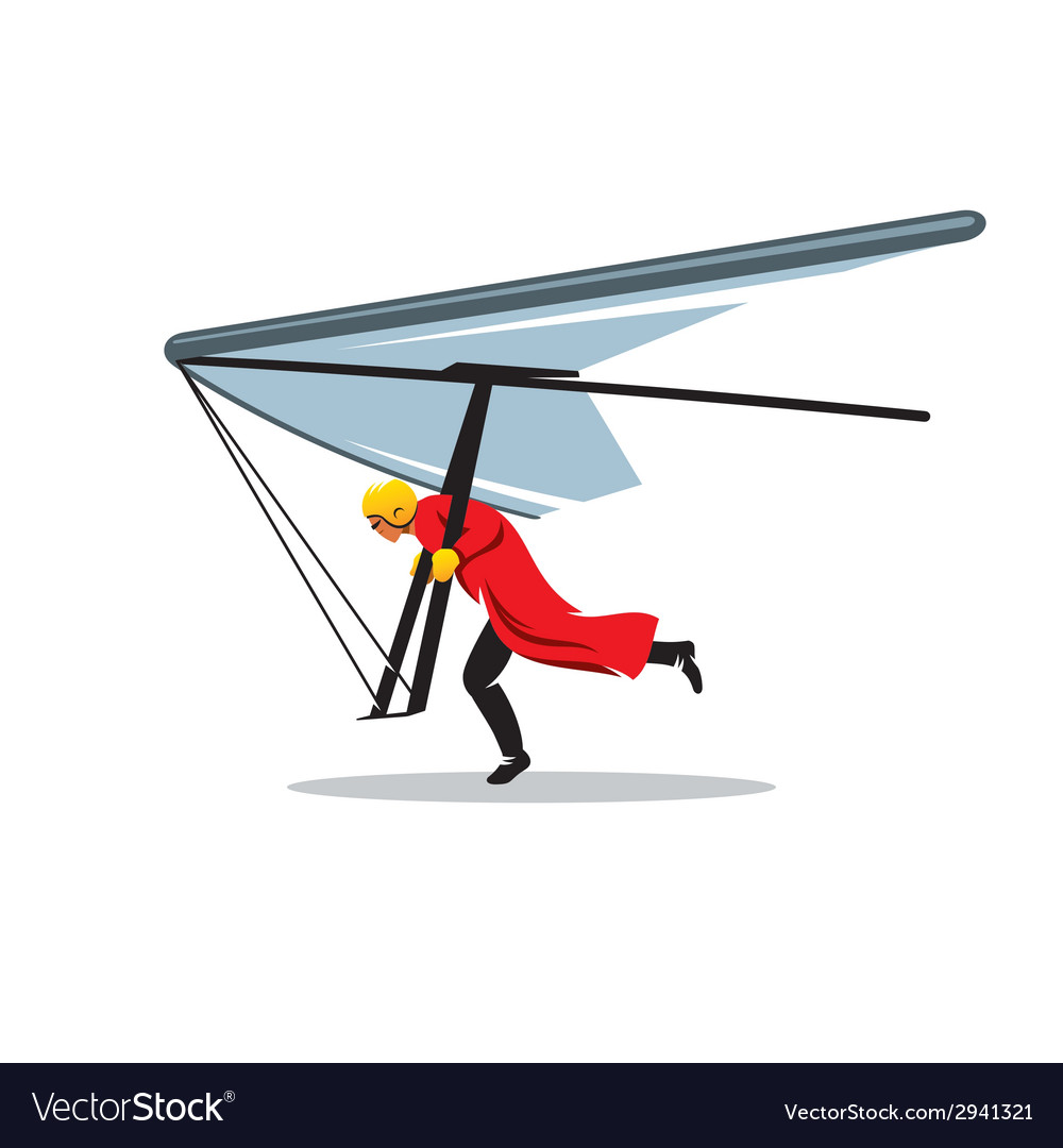 Hang gliding sign vector | Price: 1 Credit (USD $1)