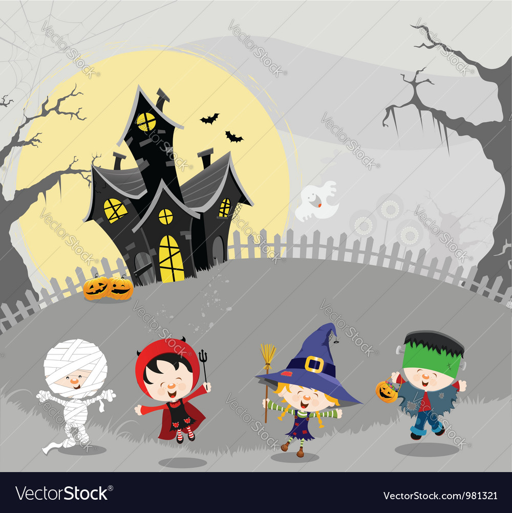 Happy halloween vector | Price: 3 Credit (USD $3)