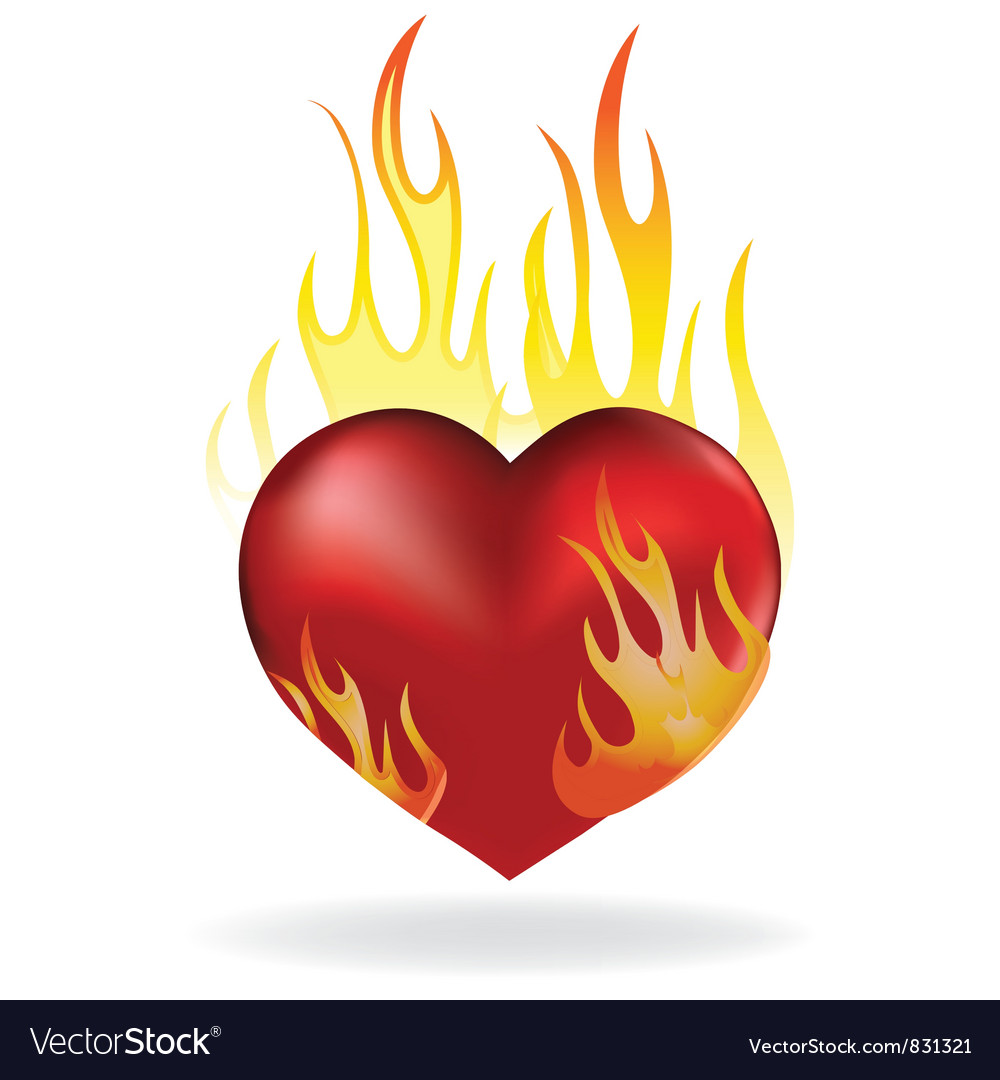 Heart fire vector | Price: 1 Credit (USD $1)