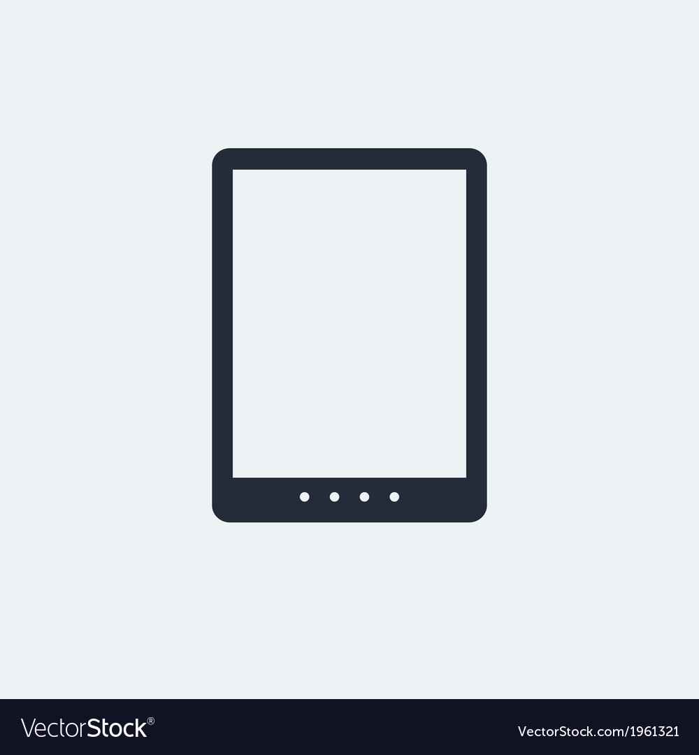 Tablet flat icon vector | Price: 1 Credit (USD $1)
