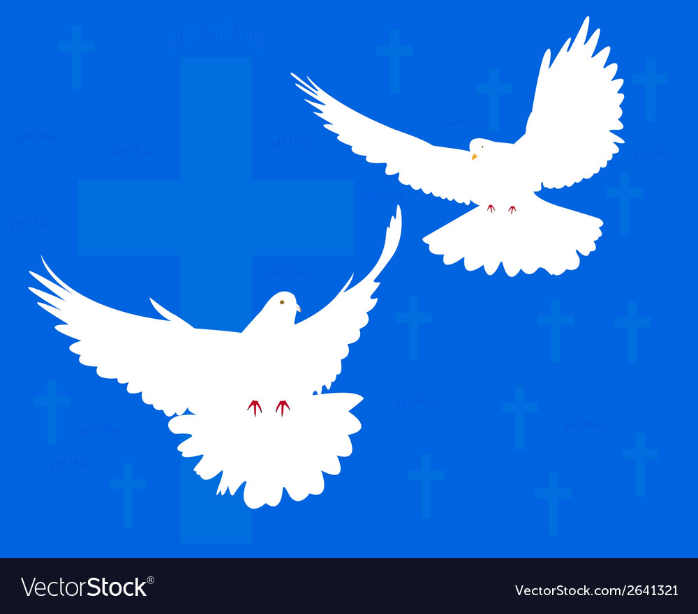 Two doves vector | Price: 1 Credit (USD $1)
