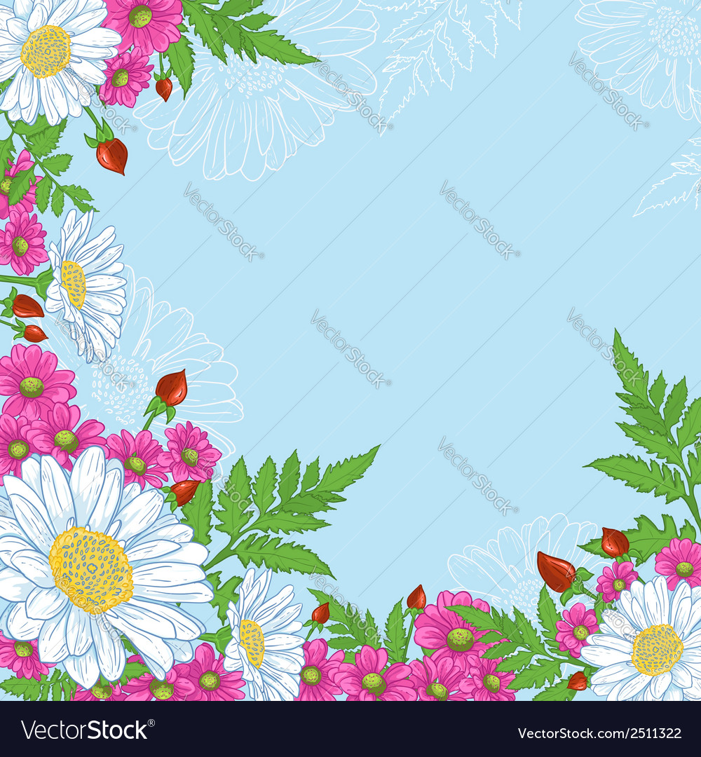 Background with mix of flowers vector | Price: 1 Credit (USD $1)