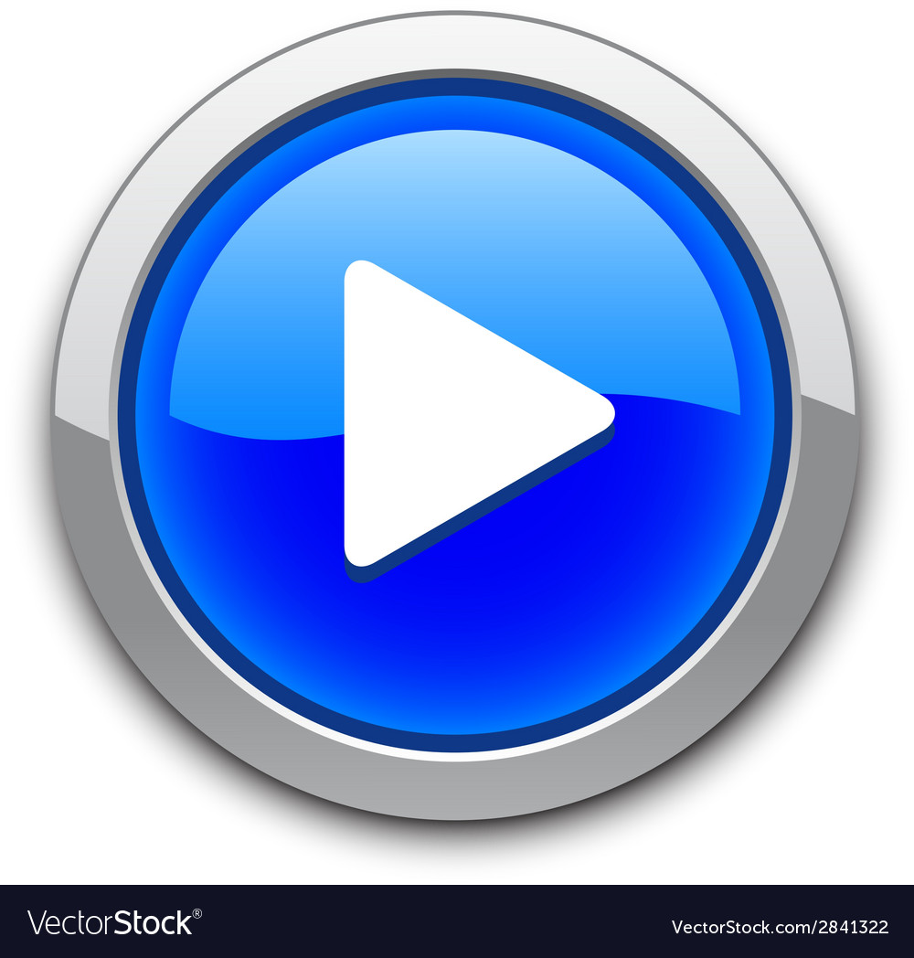 Blue play button vector | Price: 1 Credit (USD $1)