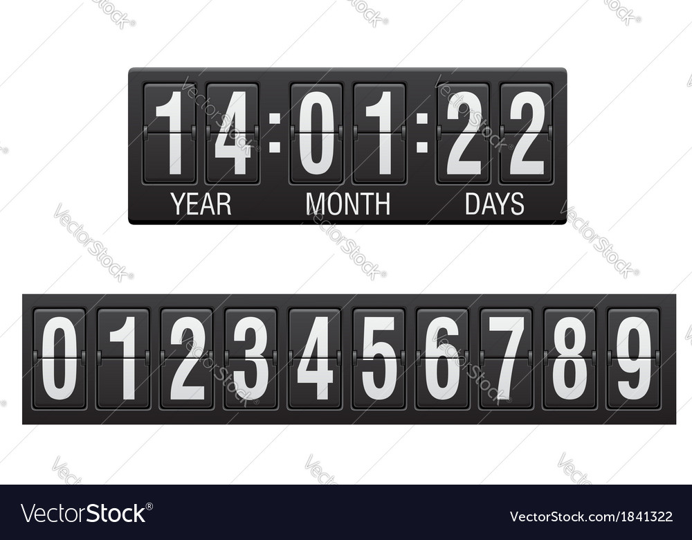 Countdown timer 02 vector | Price: 1 Credit (USD $1)