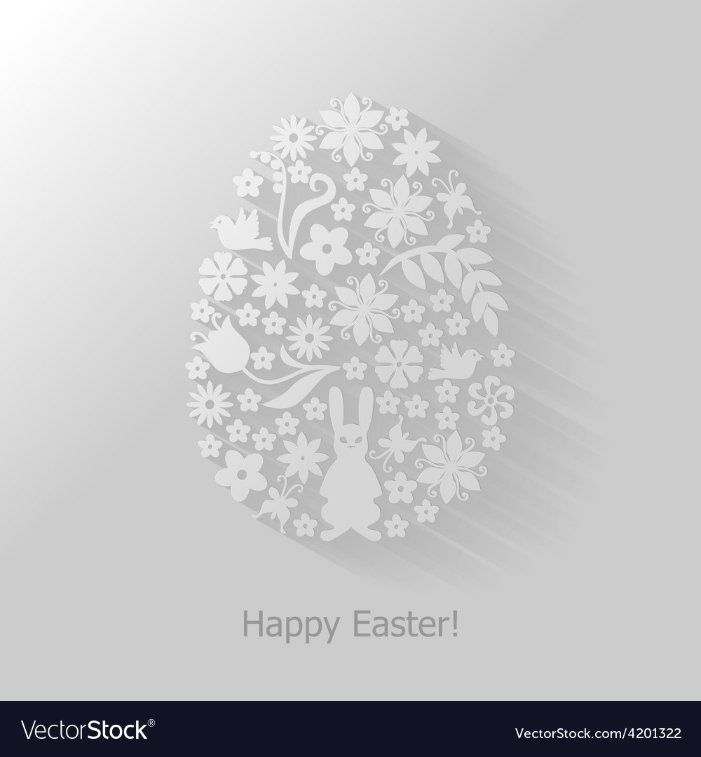 Easter floral vector | Price: 1 Credit (USD $1)