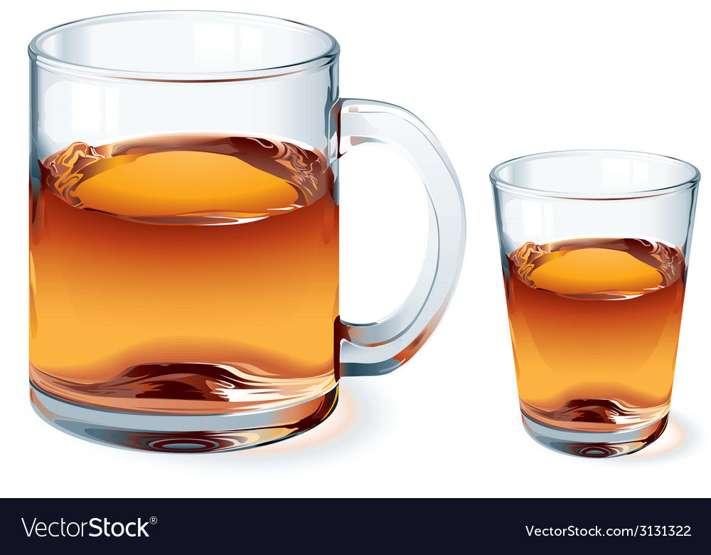 Glass of tea vector | Price: 1 Credit (USD $1)
