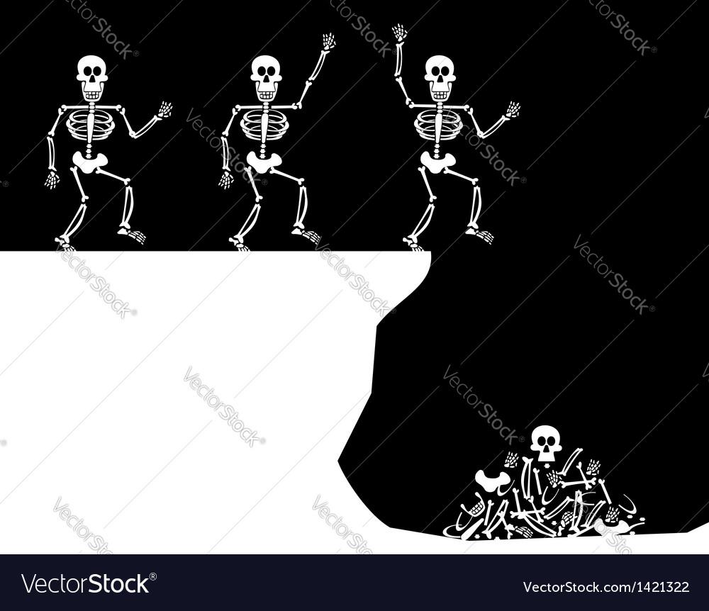 Halloween greetings skeleton jump vector | Price: 1 Credit (USD $1)