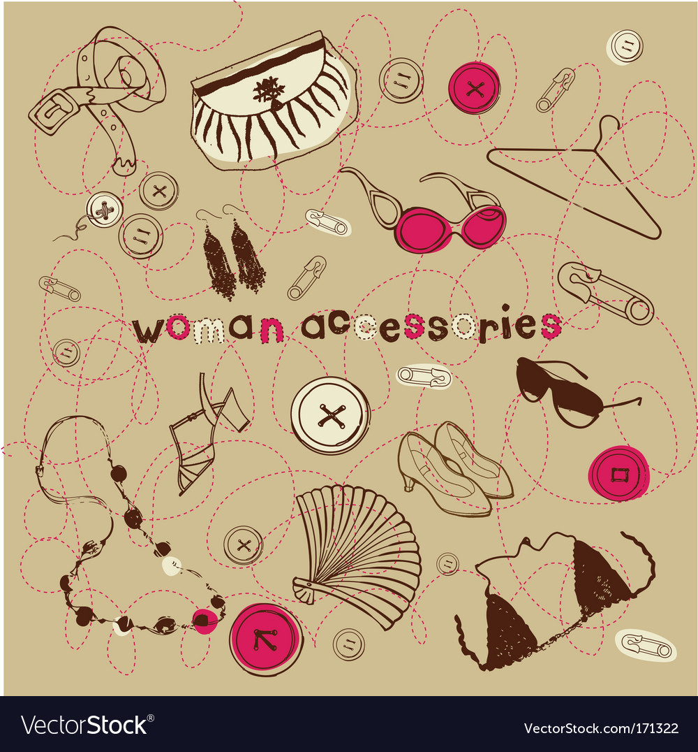 Woman accessories vector