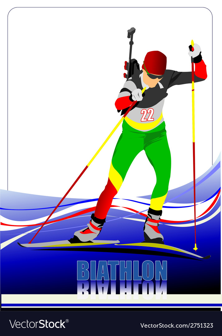 Al 0719 biathlon 04 vector | Price: 1 Credit (USD $1)