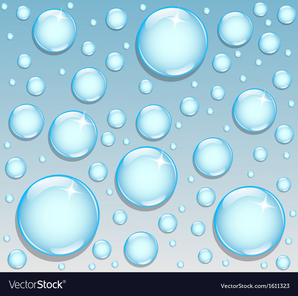 Background with round drops vector | Price: 1 Credit (USD $1)