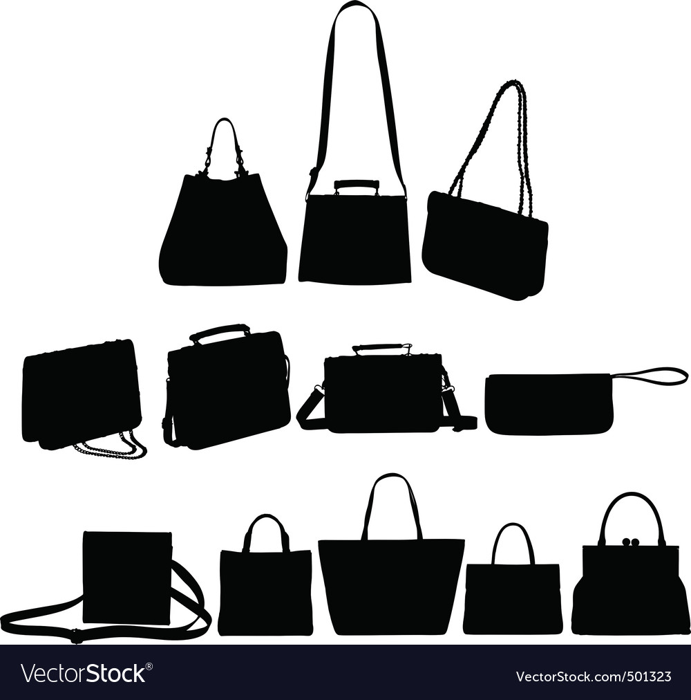 Bag silhouettes vector | Price: 1 Credit (USD $1)