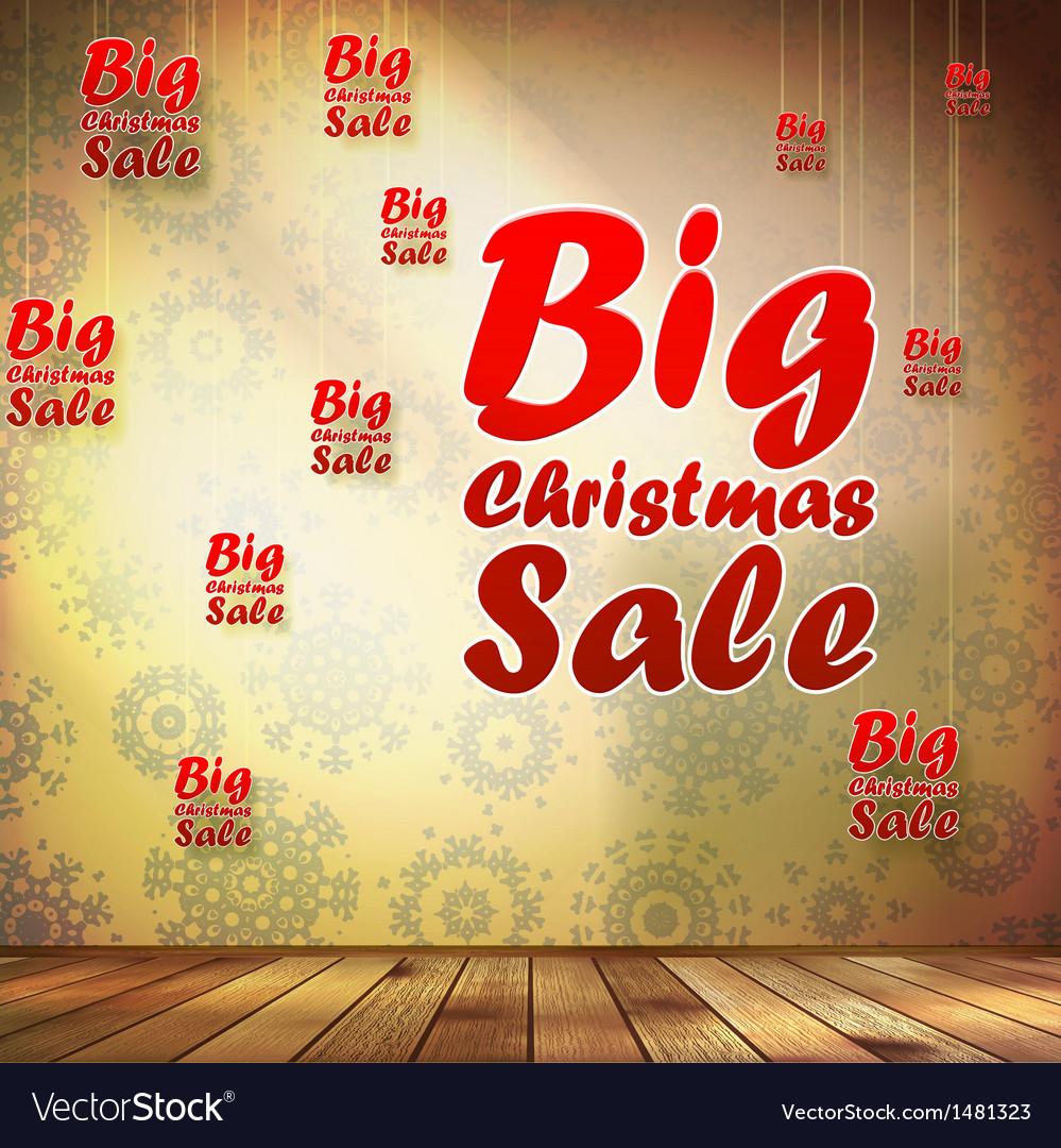 Big sale interior decorated snowflakes eps 10 vector | Price: 1 Credit (USD $1)