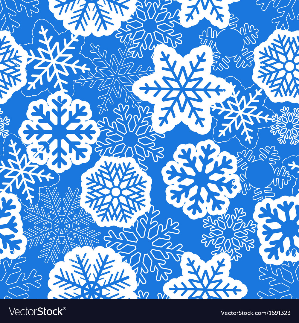 Blue seamless christmas background with snowflakes vector | Price: 1 Credit (USD $1)