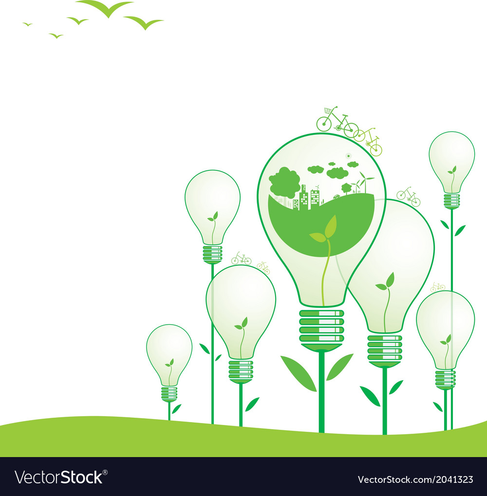 Ecology concepts vector | Price: 1 Credit (USD $1)