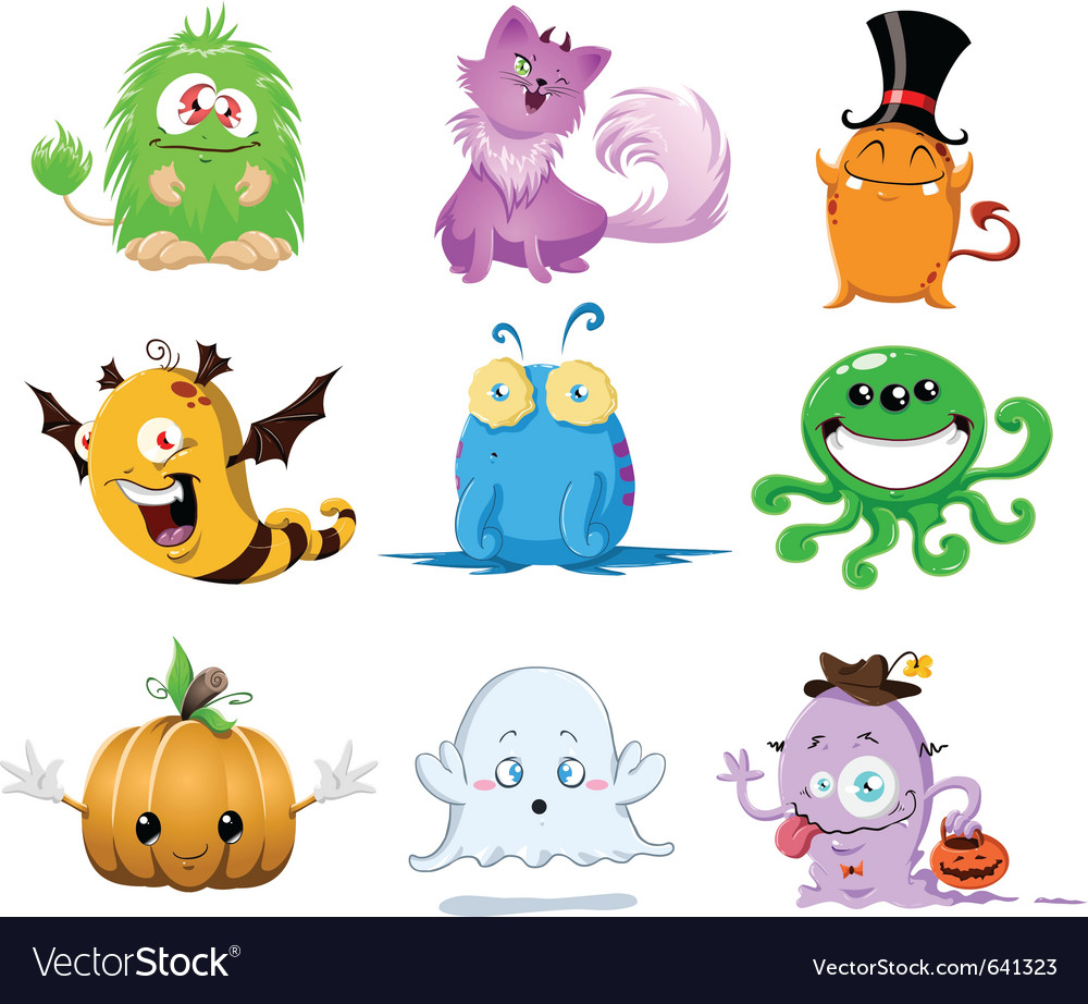 Halloween monsters pack vector | Price: 5 Credit (USD $5)