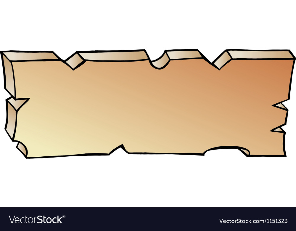 Hand-drawn of a plank vector | Price: 1 Credit (USD $1)