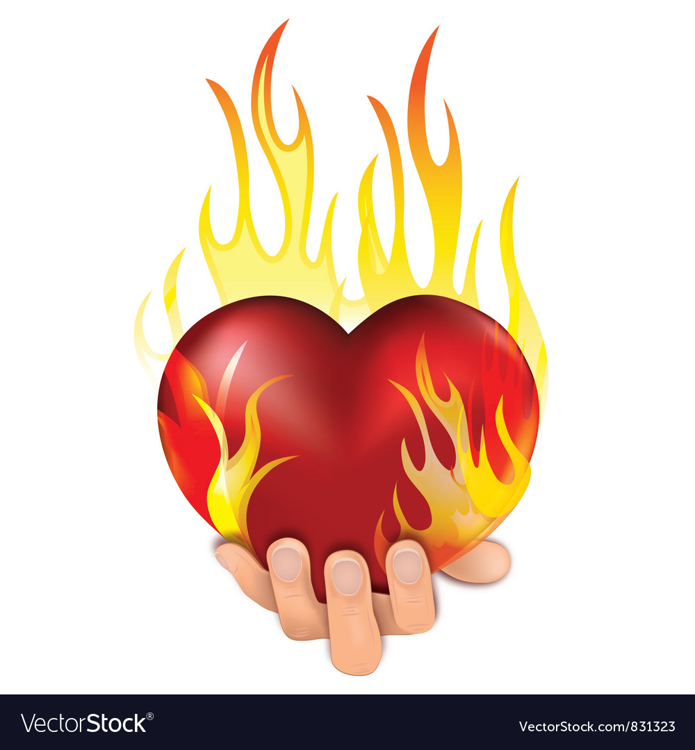 Heart fire vector | Price: 3 Credit (USD $3)