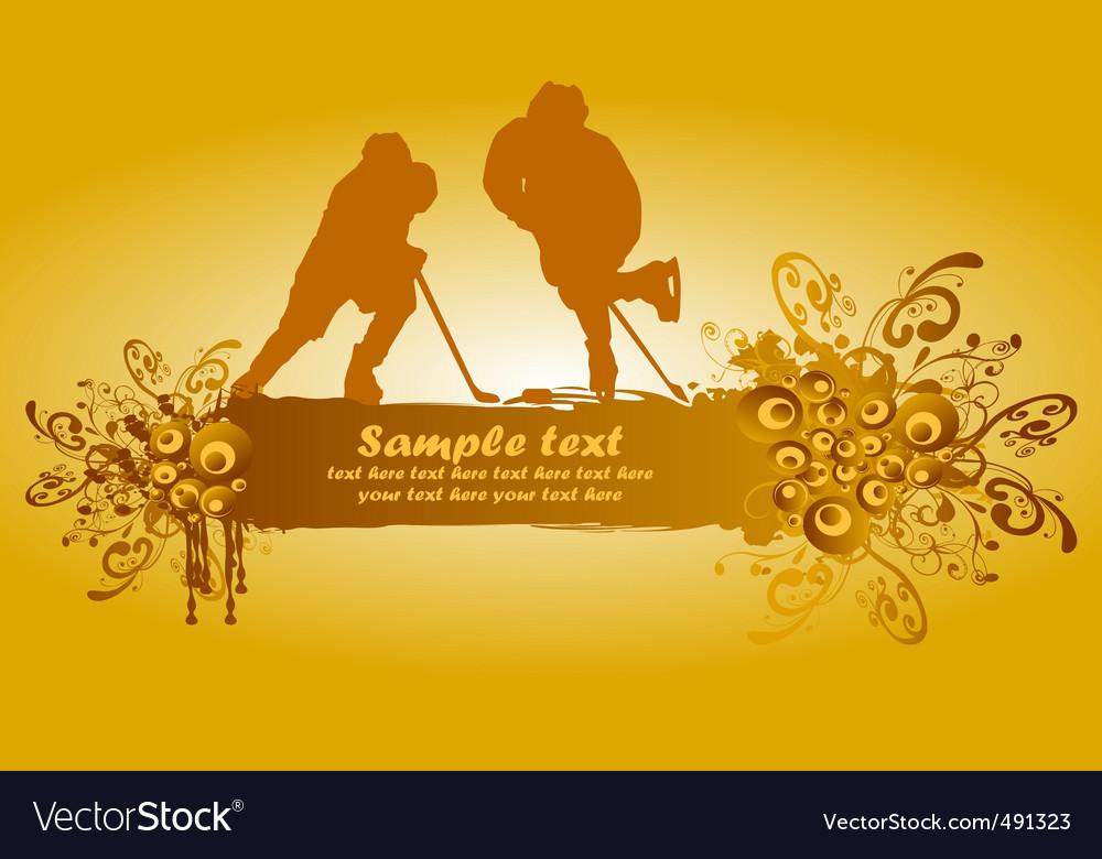 Ice hockey poster vector | Price: 1 Credit (USD $1)