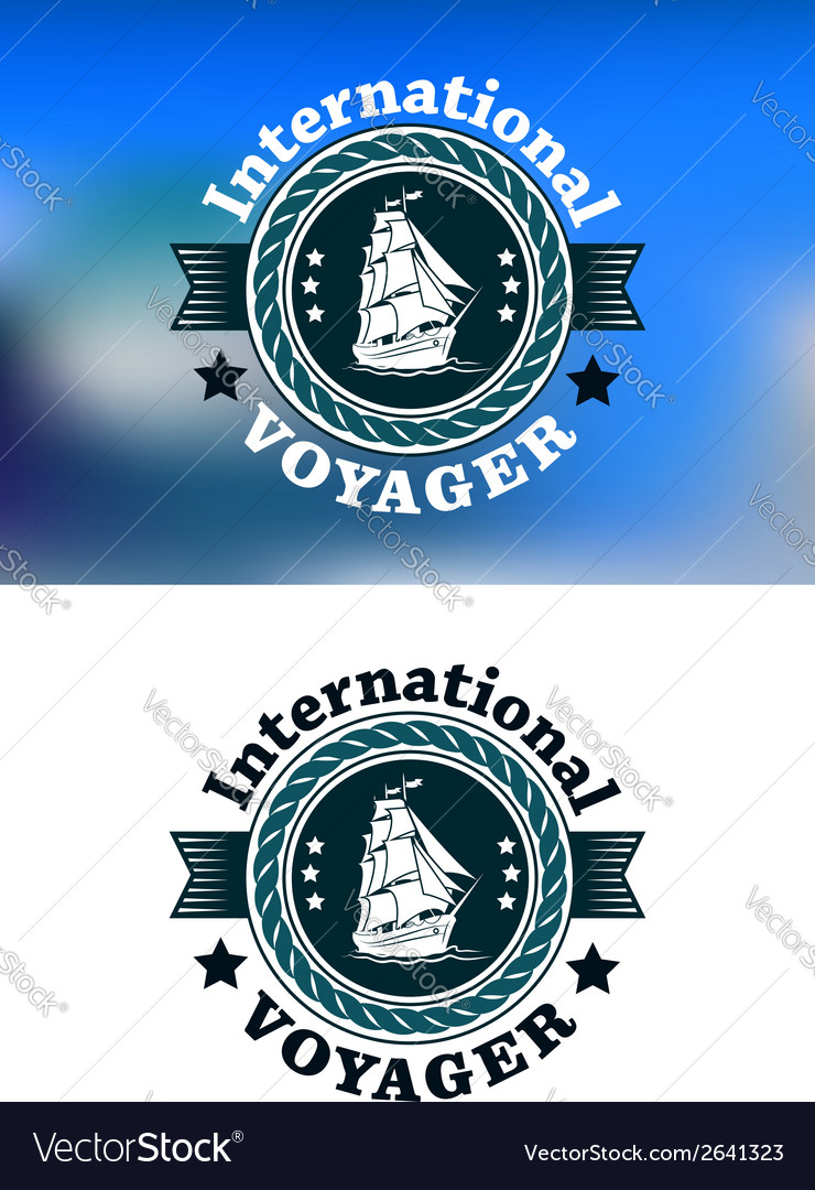 International voyager emblem vector | Price: 1 Credit (USD $1)