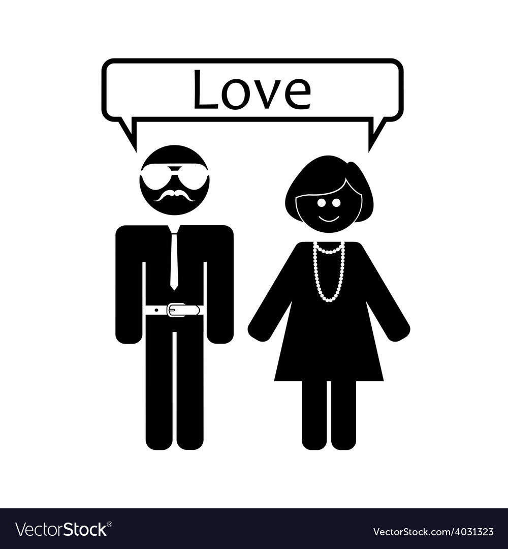 Love relationship love vector | Price: 1 Credit (USD $1)