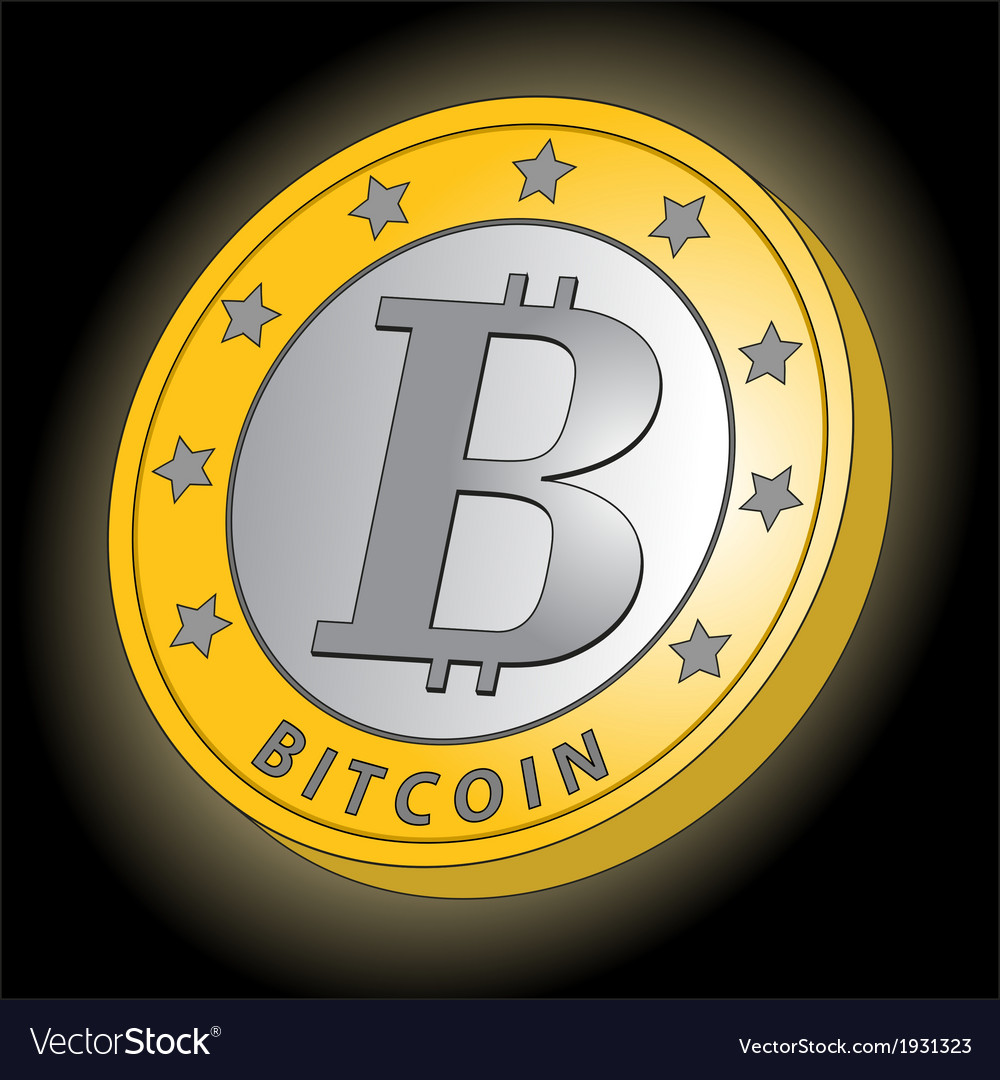 New bitcoin side view vector | Price: 1 Credit (USD $1)