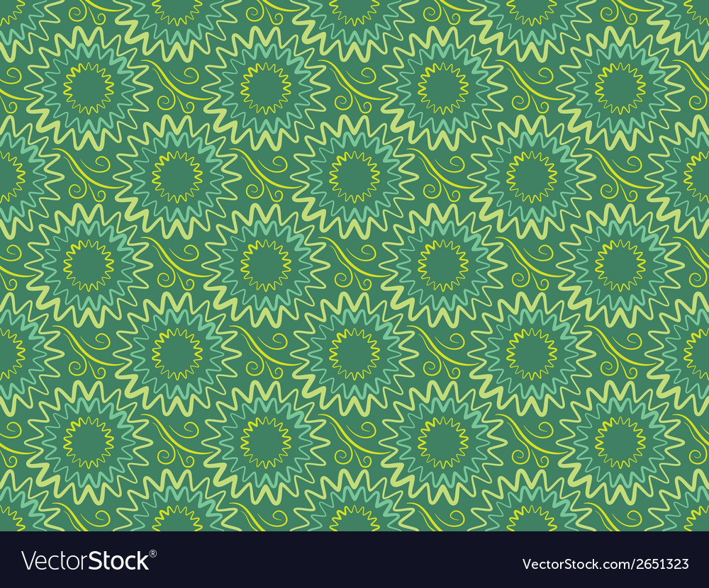 Seamless green vertical floral background in retro vector | Price: 1 Credit (USD $1)