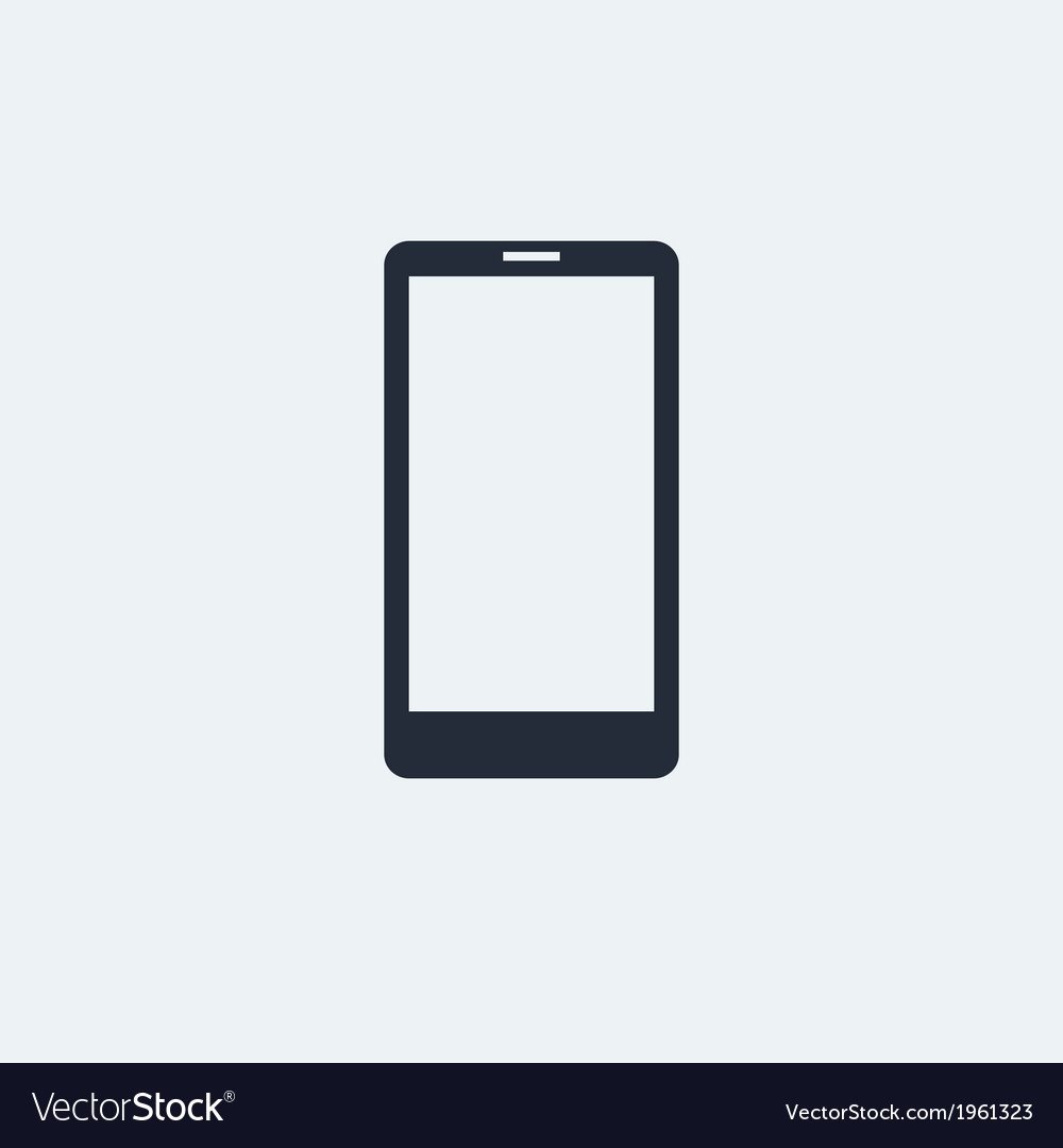 Smartphone flat icon vector | Price: 1 Credit (USD $1)