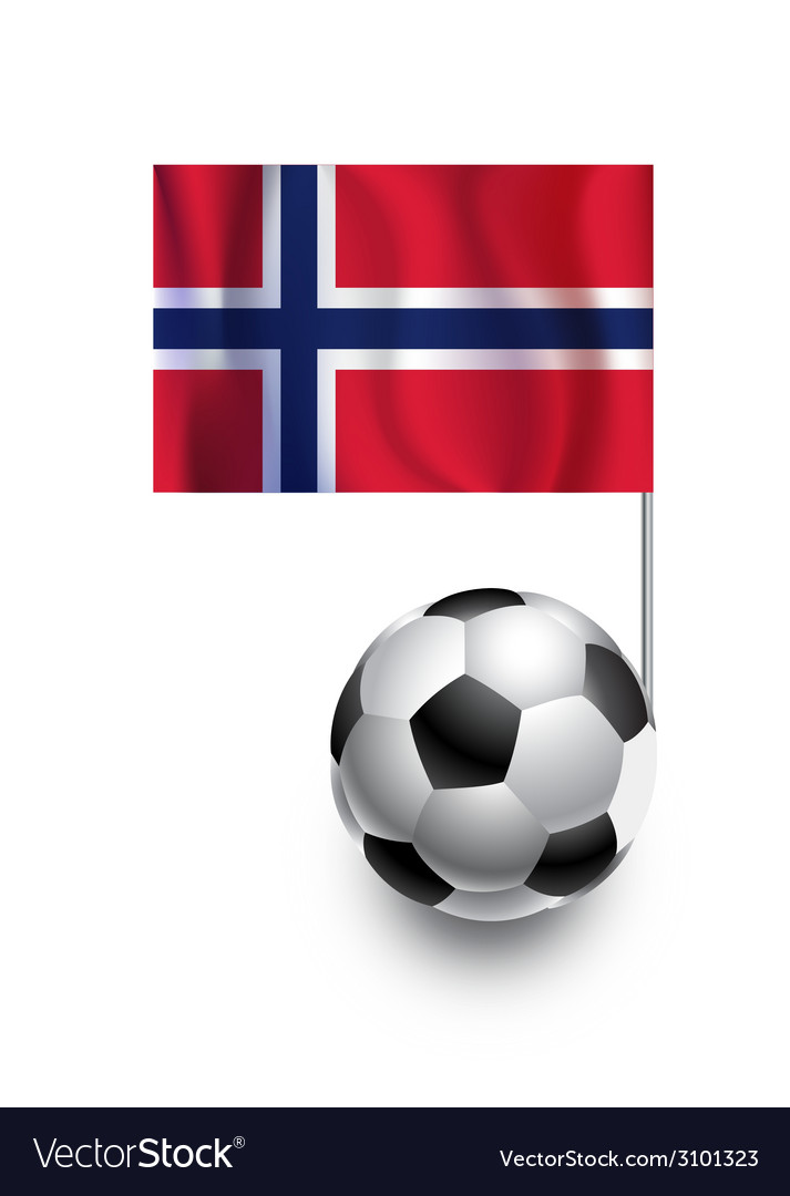 Soccer balls or footballs with flag of norway vector | Price: 1 Credit (USD $1)
