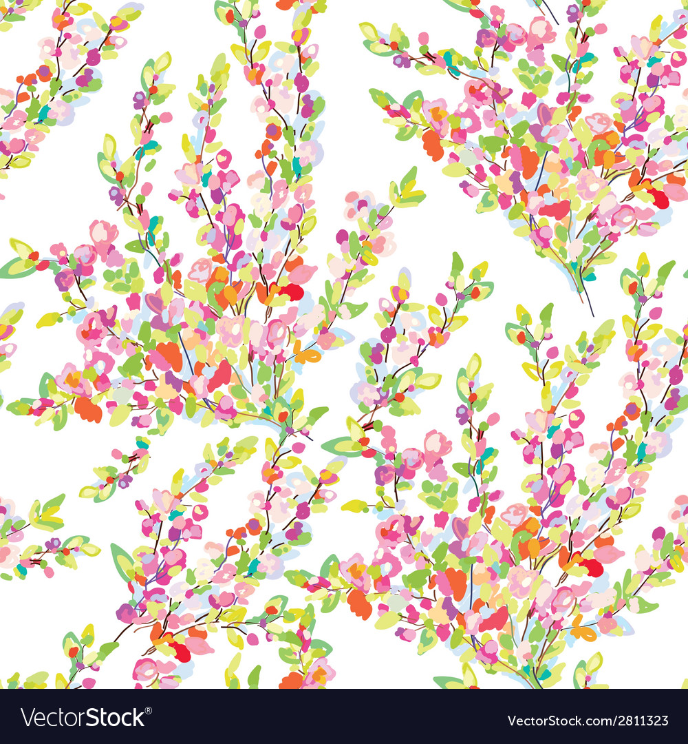 Spring or summer seamless floral background vector | Price: 1 Credit (USD $1)