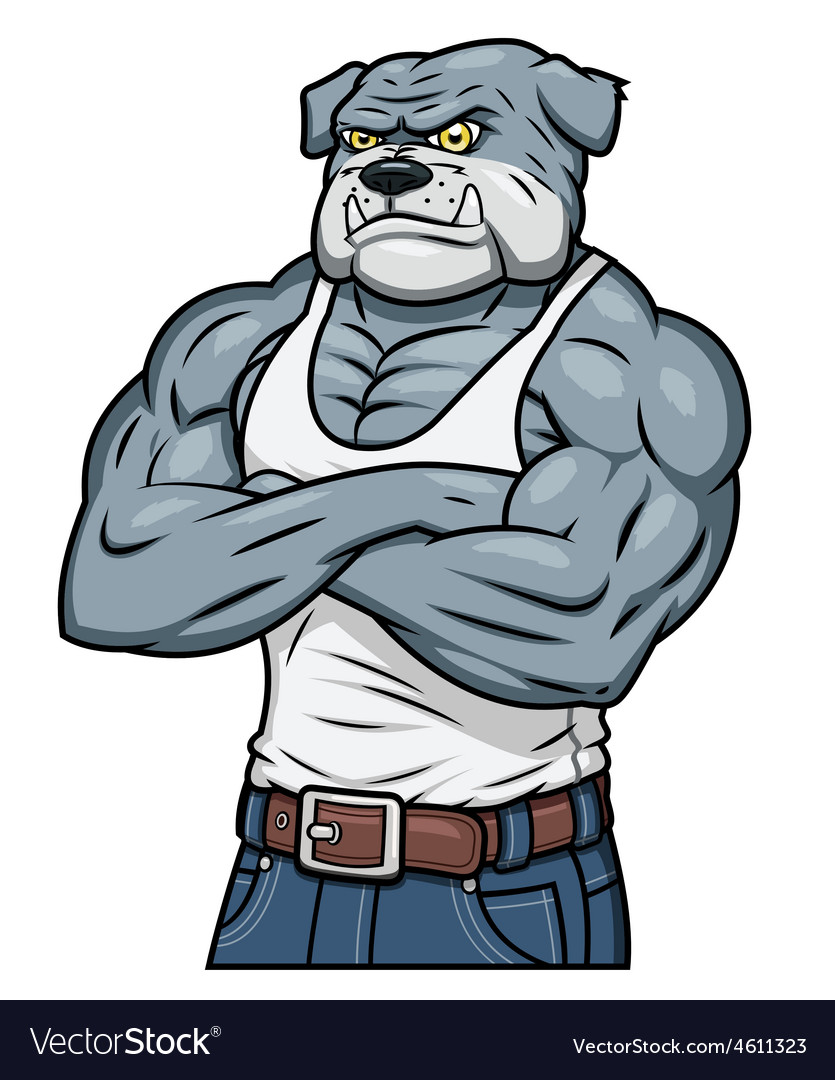 Strong muscle aggressive bulldog vector | Price: 1 Credit (USD $1)