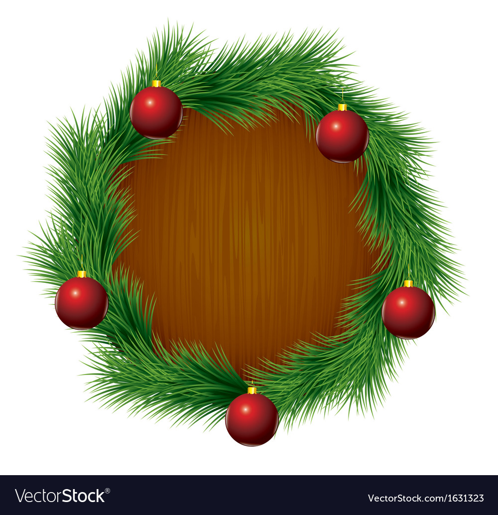 Xmas balls fir vector | Price: 1 Credit (USD $1)