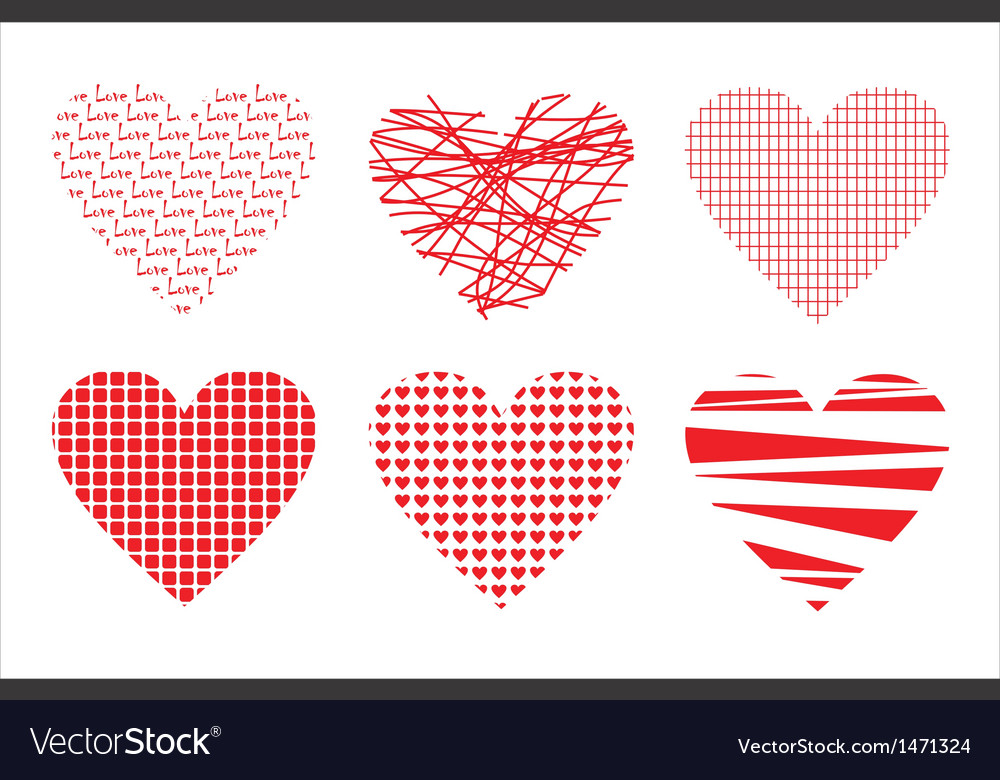 Abstract background with love hearts vector | Price: 1 Credit (USD $1)