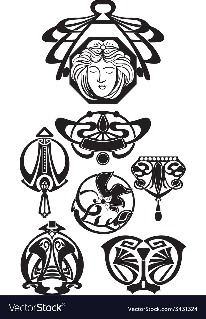 The art deco design elements vector | Price: 1 Credit (USD $1)