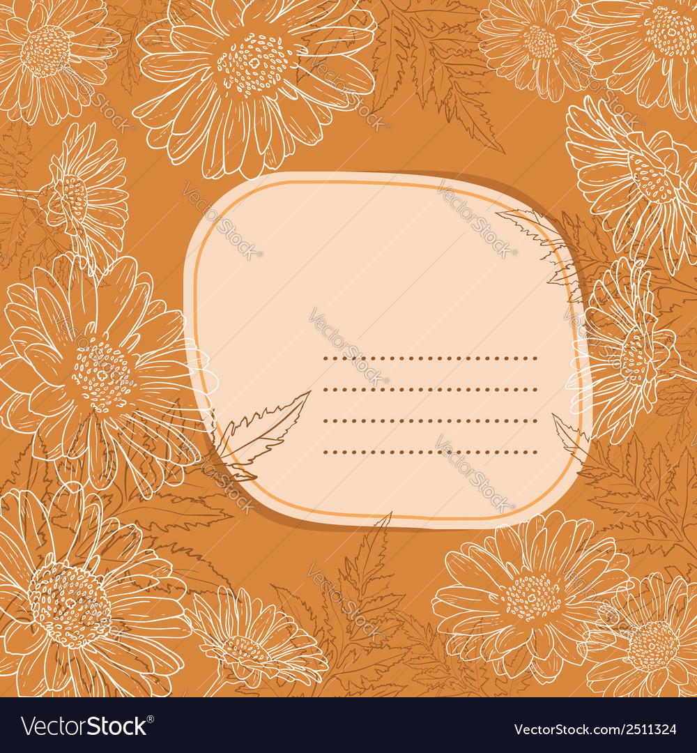 Background with daisy flowers vector | Price: 1 Credit (USD $1)