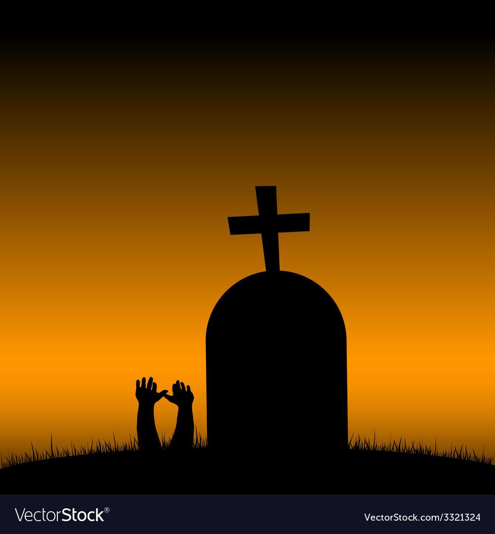 Cemetery color vector | Price: 1 Credit (USD $1)