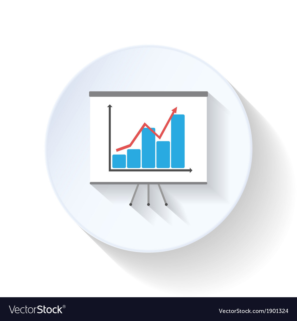 Chart flat icons vector | Price: 1 Credit (USD $1)
