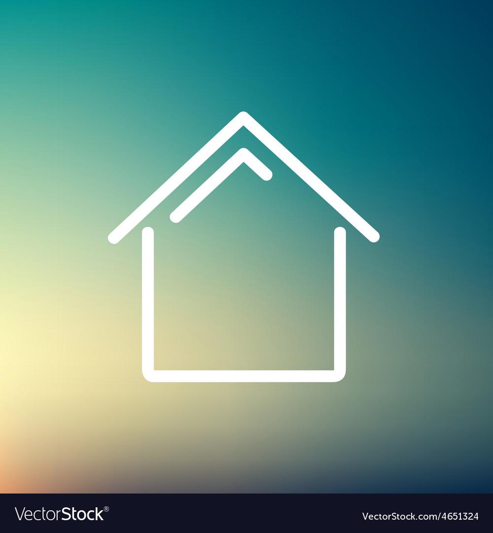 Interior thin line icon vector | Price: 1 Credit (USD $1)