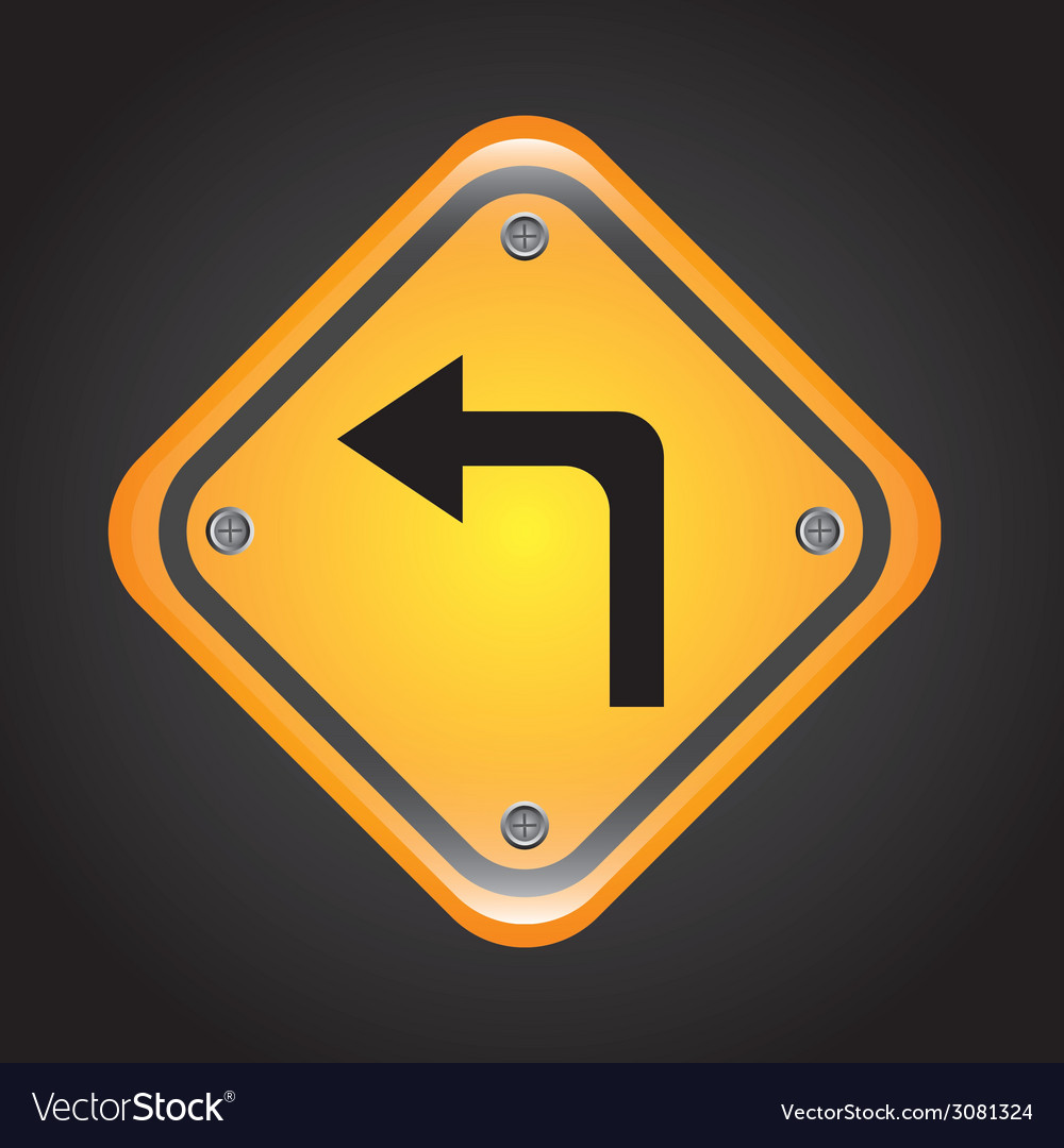 Left turn design vector | Price: 1 Credit (USD $1)