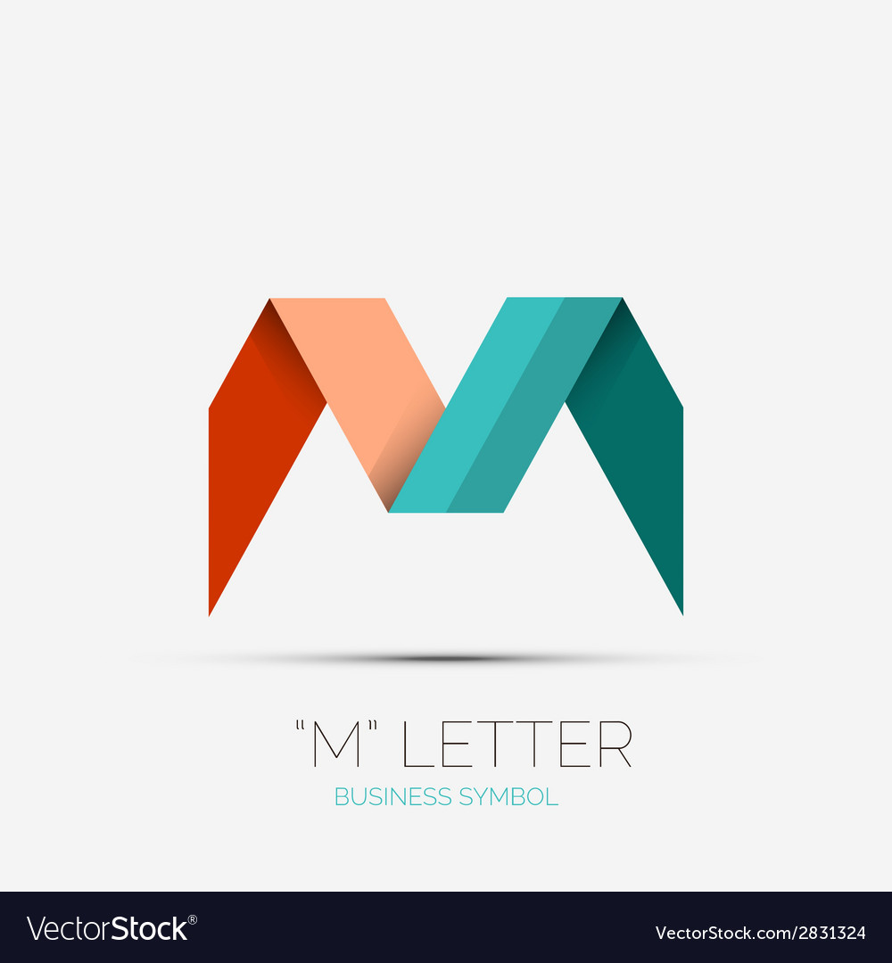M letter company logo minimal design vector | Price: 1 Credit (USD $1)