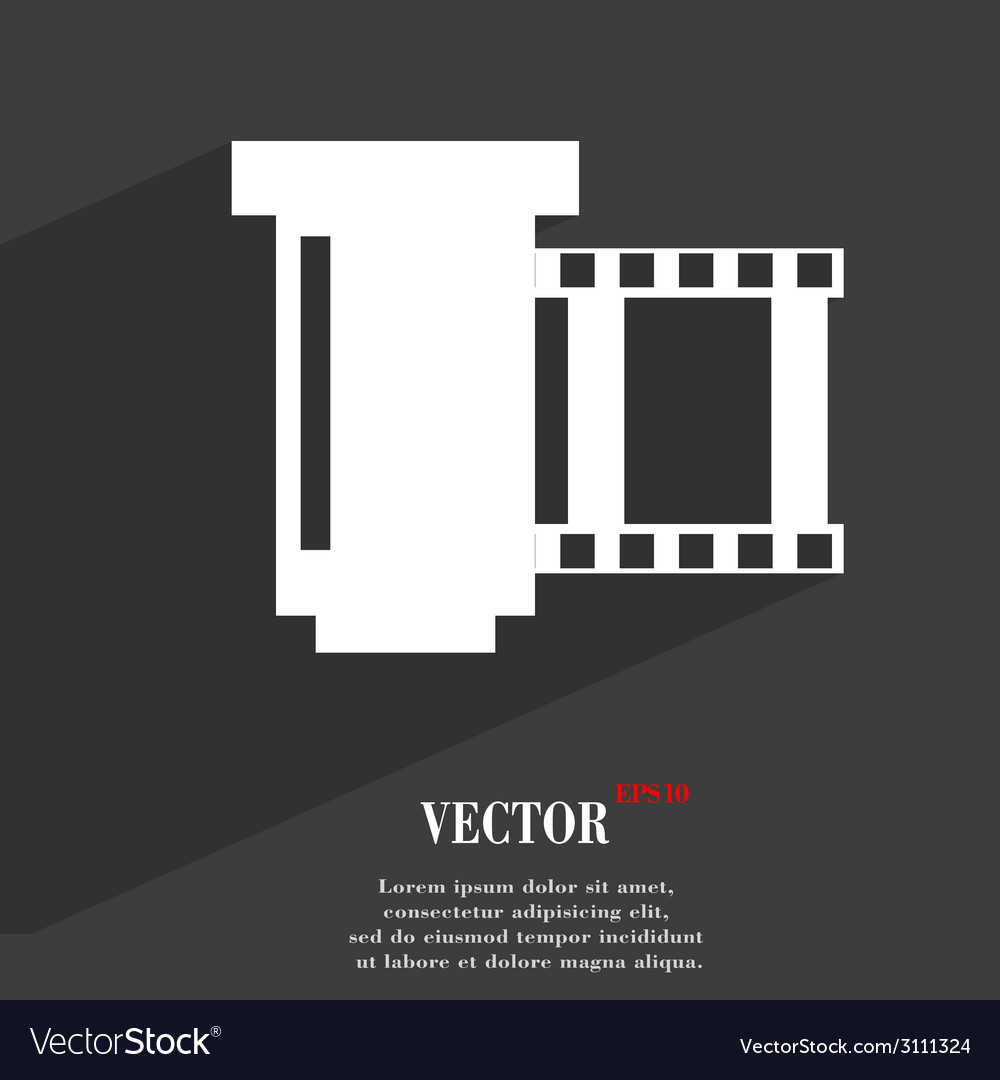 Negative films icon symbol flat modern web design vector | Price: 1 Credit (USD $1)